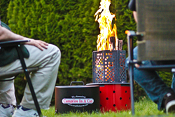 Portable wood burning Campfire In A Can fire pit and grill