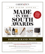 Garden & Gun's Made in the South Awards Calls for Entries