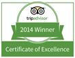 TripAdvisor Certificate of Excellence logo