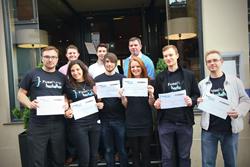 FusePump Hackathon winners with the judges