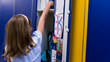 Cologne Academy students take pride in their new, full-sized lockers