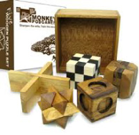 image of father's day gifts, sustainable wood puzzles by Monkey Pod Games