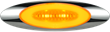 GloLight Millennium Series, M5 4-inch amber LED marker lamp, 11212700B