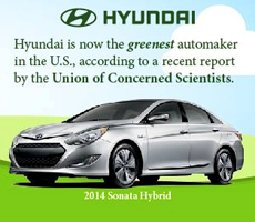 Hyundai unseats Honda for title of greenest automaker in U.S.