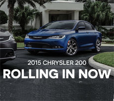 Barry Sanders Supercenter Brings on the 2015 Chrysler 200 Midsize Sedan in Stillwater
