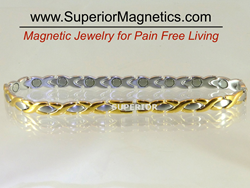 Magnetic anklet for pain relief in seconds
