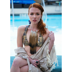 Michelle Pajak-Reynolds Hypatia Collection - Artreaus necklace featured in Summer Essentials editorial in Created Woman Magazine April/May/June 2014