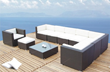 Brown Outdoor Sectional Set TOS-GW0059SET From Tosh Furniture