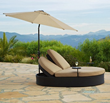 AFD GF-LD3007-99 UPU1002-9-8 Solara Dbl Chaise with Umbrella