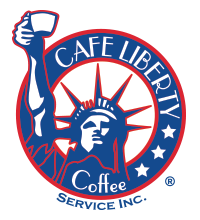 cafe liberty coffee service logo