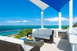 A photograph of the roof terrace of Wild Cherry villa rental, Providenciales, Turks and Caicos islands