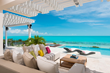 A photograph of one of the outdoor living areas of Villa Isla, luxury Turks and Caicos villa rental
