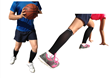 BeVisible Sports Calf Compression Sleeves