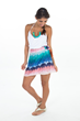 Rainbow Crystal is a High Waist Wrap Around Skirt by Colosty