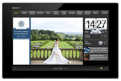 An example of a home screen promotion in Cliveden House - a unique setting for a wedding