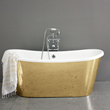 Penhaglion Cast Iron French Bateau with Polished Brass Exterior