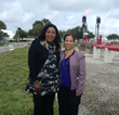 Champion Controls president Chantal Wedderburn (right) with Broward County Mayor Barbara Sharief at Groundbreaking Ceremony