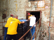 Scientology Volunteer Ministers distributing water to people left homeless by floods in Croatia