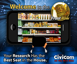 Front Row | Civicom Marketing Research Services