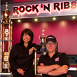 After winning numerous awards for her specialty barbecue, Alice Banach, with her husband Terry, opened Rock 'N Ribs