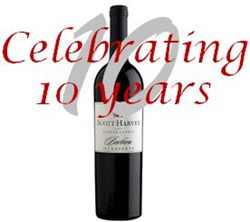 Celebrating Scott Harvey Wines 10th Anniversary