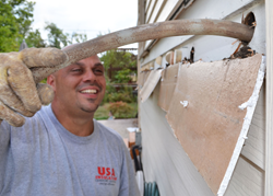 USA Insulation installer injects USA Premium Foam Insulation