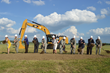 Deborah Lee James, Secretary of the Air Force, center, leads ceremonial fourth building groundbreaking event on June 3, 2014, at the National Museum of the U.S. Air Force.