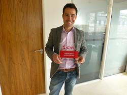 Syrus Mokhtari with The Blueprint IT's Associate Partner Plaque