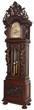 Horner clock: Carved R. J. Horner oak 9-tube grandfather clock, 120 inches tall, with movement by Westminster & Whittington (est. $50,000-$75,000).
