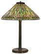 Tiffany lamp: Tiffany Studios Arrowroot table lamp with 20-inch diameter conical form shade and signed base, 26 inches tall (est. $25,000-$35,000).