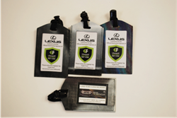 Relan repurposed luggage tags made from Lexus billboards