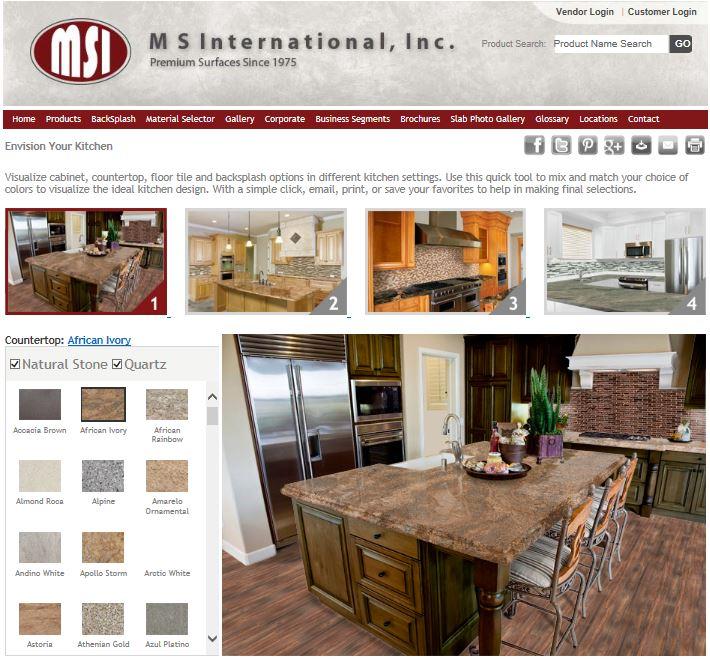 M S International, Inc. Announces New Kitchen Visualizer