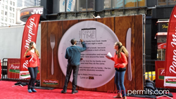IPO event in Times Square
