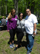 From left, New Jersey Bariatric Center dietitian Meagan Butler, Gastric Sleeve patient Lola M. and her husband enjoy the picnic. Lola lost 90 pounds since her surgery in 2013.