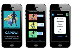 CAPOW! iPhone app helps grow confidence for women.