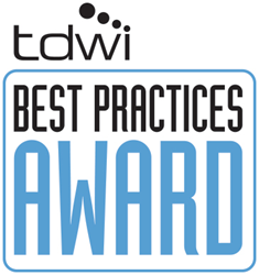 image of the TDWI Best Practices Awards logo for business intelligence and data warehousing excellence
