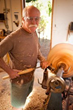 Jerry Kermode turning wooden bowls