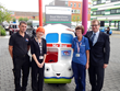 The Mr Bus children's ride is delivered to Royal Manchester Children's Hospital ready for installation