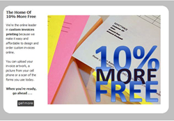 Every Order Of Custom Invoices Ships With 10% More AT No Extra Charge