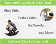 Father's Day Specialty Gifts and Gift Baskets on Sale at Thoughtful Presence