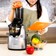 The Kuvings Whole Slow Juicer enable consumers to add whole fruits and vegetables for maximum nutrition.