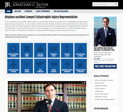 JONATHAN C. REITER LAW FIRM, PLLC. Airline Accident Lawyer Website Image