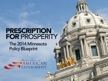 Center of the American Experiment Launches Prescription for Prosperity