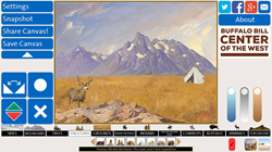 """""""History Canvas"""" is among the Center's recent interactives, and allows users to choose elements of paintings in the art collection to create and share works of art."""