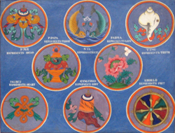 Get The Eight Auspicious Symbols of Buddhism form www.exploretibet.com
