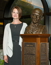 Professor Jamii Claiborne, the 28th recipient of Buena Vista University's George Wythe Award