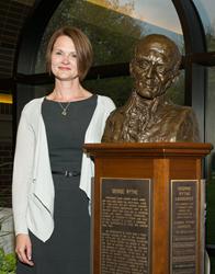Professor Jamii Claiborne, the 28th recipient of Buena Vista University's George Wythe Award