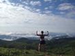 Erin Hannen on a trail run