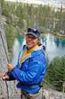 Ken Wylie rock climbing
