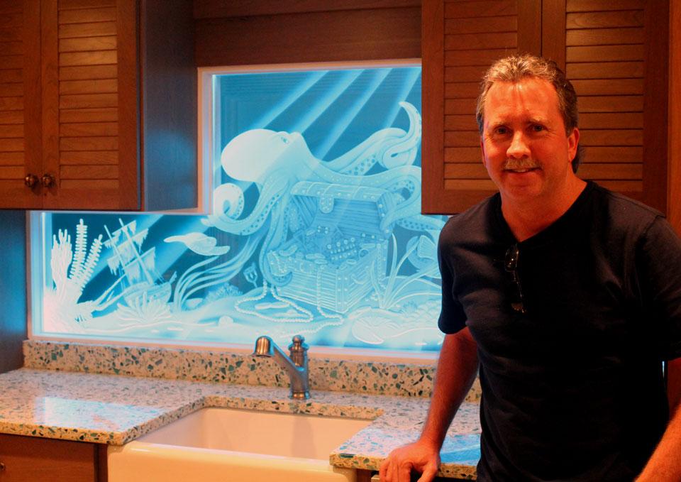 Glass Artist Peter Edward Jurgens Of Krystal Glass Company